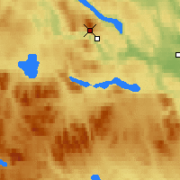 Nearby Forecast Locations - Jämtland - Mapa