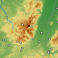 Nearby Forecast Locations - Cordillera de los Vosgos - Mapa