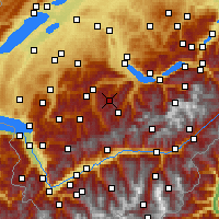 Nearby Forecast Locations - Diemtigtal - Mapa