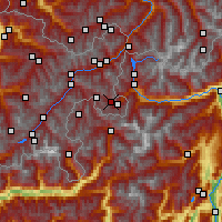 Nearby Forecast Locations - Val Müstair - Mapa