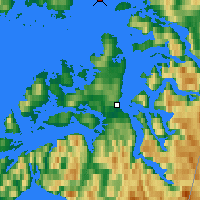 Nearby Forecast Locations - Skomvaer Fyr - Mapa