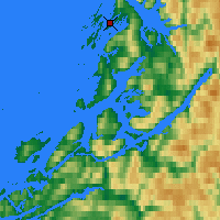 Nearby Forecast Locations - Brønnøysund - Mapa