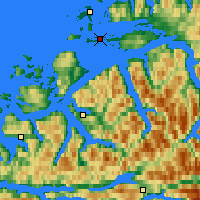 Nearby Forecast Locations - Skalmen Lighthouse - Mapa