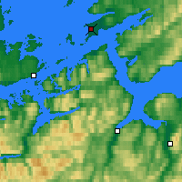 Nearby Forecast Locations - Ørland - Mapa