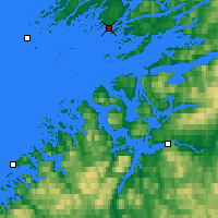 Nearby Forecast Locations - Rørvik - Mapa