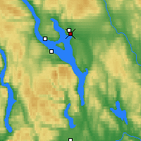 Nearby Forecast Locations - Hamar - Mapa