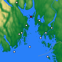 Nearby Forecast Locations - Gullholmen - Mapa