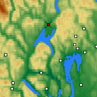 Nearby Forecast Locations - Hønefoss - Mapa