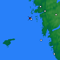 Nearby Forecast Locations - Vinga Lighthouse - Mapa