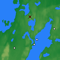 Nearby Forecast Locations - Gardsjo - Mapa