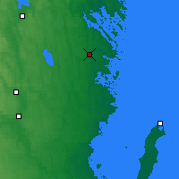 Nearby Forecast Locations - Gladhammar - Mapa