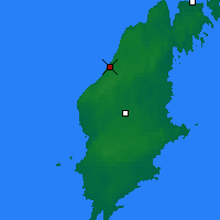 Nearby Forecast Locations - Visby - Mapa