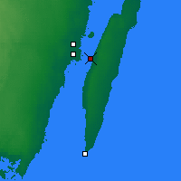 Nearby Forecast Locations - Puente Öland - Mapa