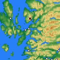 Nearby Forecast Locations - Bealach na Bà - Mapa