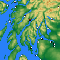 Nearby Forecast Locations - Inveraray - Mapa