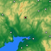 Nearby Forecast Locations - Eskdalemuir - Mapa