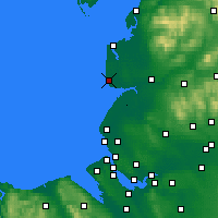 Nearby Forecast Locations - Blackpool - Mapa