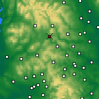 Nearby Forecast Locations - Skipton - Mapa