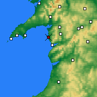 Nearby Forecast Locations - Harlech - Mapa