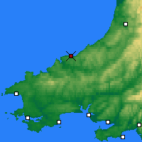 Nearby Forecast Locations - Cardigan - Mapa