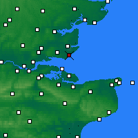 Nearby Forecast Locations - Shoeburyness - Mapa
