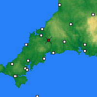 Nearby Forecast Locations - Bodmin - Mapa