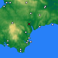Nearby Forecast Locations - Exeter - Mapa