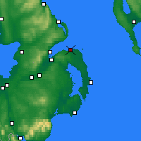 Nearby Forecast Locations - Bangor - Mapa