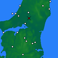 Nearby Forecast Locations - Tylstrup - Mapa