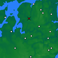 Nearby Forecast Locations - Aalestrup - Mapa