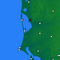 Nearby Forecast Locations - Stauning - Mapa
