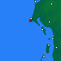Nearby Forecast Locations - Blavand Cape - Mapa
