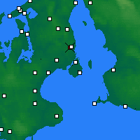 Nearby Forecast Locations - Jægersborg - Mapa