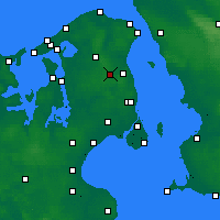 Nearby Forecast Locations - Sjaelsmark - Mapa