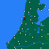 Nearby Forecast Locations - IJmuiden - Mapa