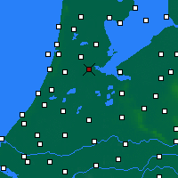 Nearby Forecast Locations - Ámsterdam - Mapa
