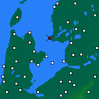 Nearby Forecast Locations - Stavoren - Mapa