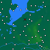 Nearby Forecast Locations - Lelystad - Mapa