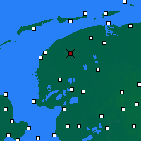 Nearby Forecast Locations - Leeuwarden - Mapa
