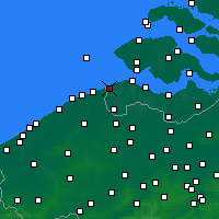 Nearby Forecast Locations - Cadzand - Mapa