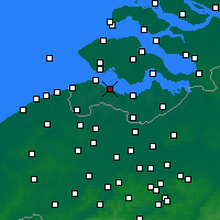 Nearby Forecast Locations - Hoofdplaat - Mapa