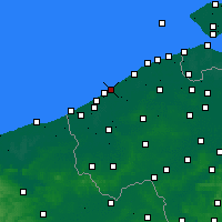 Nearby Forecast Locations - Ostende - Mapa