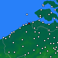 Nearby Forecast Locations - Knokke-Heist - Mapa