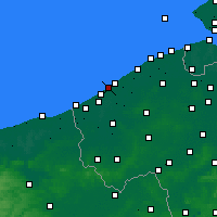 Nearby Forecast Locations - Middelkerke - Mapa