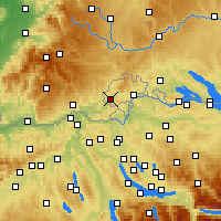 Nearby Forecast Locations - Hallau - Mapa