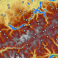 Nearby Forecast Locations - Meiringen - Mapa