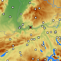 Nearby Forecast Locations - Möhlin - Mapa