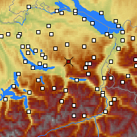 Nearby Forecast Locations - Ebnat-Kappel - Mapa