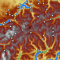Nearby Forecast Locations - Hospental - Mapa