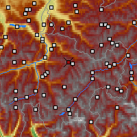 Nearby Forecast Locations - Weissfluhjoch - Mapa